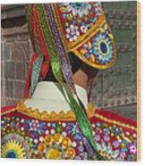 Dancer In Native Costume Peru Wood Print