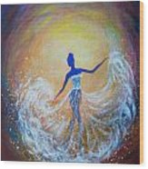 Dancer In White Dress Wood Print