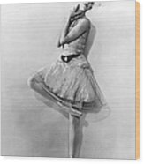 Dancer Nikitina At Monte Carlo Wood Print by Underwood Archives