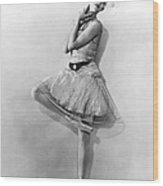 Dancer Nikitina At Monte Carlo Wood Print