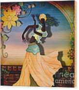 Dancer Of The Balcony Wood Print