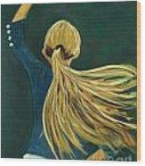 Dancer With Hair Wood Print