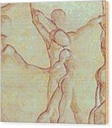 Dancers - 10 Wood Print