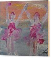 Dancers 135 Wood Print