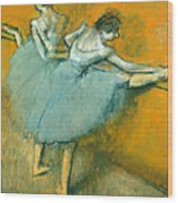 Dancers At The Barre Wood Print
