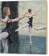 Dancers At Work Wood Print