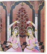 Dancers In Mughal Court Wood Print
