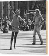 Dancers In Sao Paulo Wood Print
