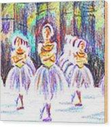 Dancers In The Forest II Wood Print by Kip DeVore