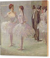 Dancers In The Wings At The Opera Wood Print by Jean Louis Forain