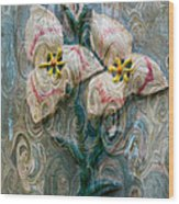 Dances With Flowers Wood Print