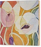 Dancing Anemones Wood Print