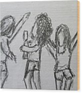 Dancing Children Wood Print