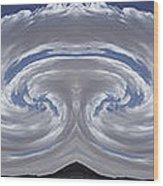 Dancing Clouds 2 Panoramic Wood Print