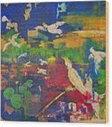 Dancing Cockatoos Wood Print