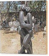 Dancing Couple In The Garden Wood Print