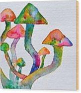 Dancing Cubensis Wood Print