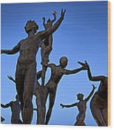 Dancing Figures Wood Print by Brian Jannsen