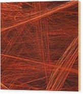 Dancing Flames 1 H - Panorama - Abstract - Fractal Art Wood Print
