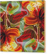 Dancing Flowers Wood Print by Omaste Witkowski