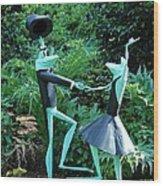 Dancing Frogs Wood Print