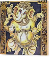 Dancing Ganesh Wood Print