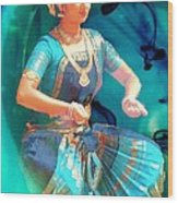 Dancing Girl With Gold Necklace Wood Print