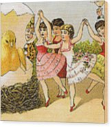 Dancing Girls Wood Print