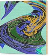 Dancing Goose Wood Print