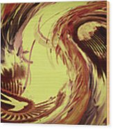 Dancing Headdress Abstract Wood Print