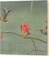 Dancing In The Flowers Wood Print