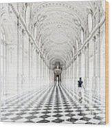 Dancing In The Galleria Grande Wood Print