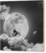 Dancing In The Moonlight Wood Print by Alex Hardie