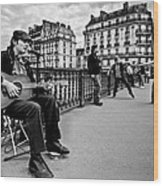 Dancing In The Streets Of Paris / Paris Wood Print