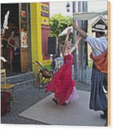 Dancing In The Streets Wood Print