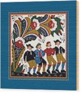 Dancing Men I Wood Print