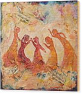 Dancing Music Wood Print
