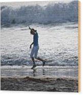 Dancing On The Beach Wood Print