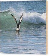 Dancing On The Waves Wood Print