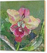 Dancing Orchid I Wood Print