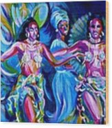 Dancing Panama Wood Print