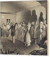 Dancing Party At Kagha-choura Wood Print