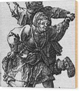 Dancing Peasants 1514 - Albrecht Durer Wood Print