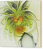 Dancing Petals Wood Print