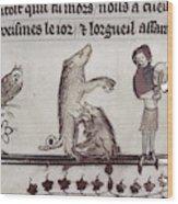 Dancing Pig, 14th Century Wood Print