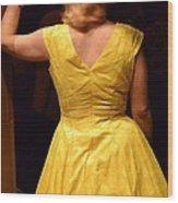 Dancing Queen II Wood Print by Carlee Ojeda