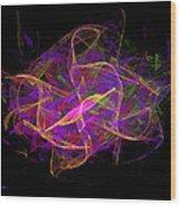 Dancing Ribbons 26 Wood Print