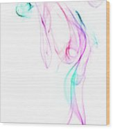 Dancing Smoke. Wood Print
