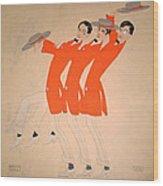 Dancing Song Wood Print