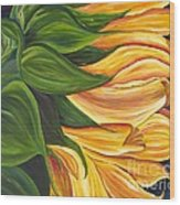 Dancing Sunflower Wood Print